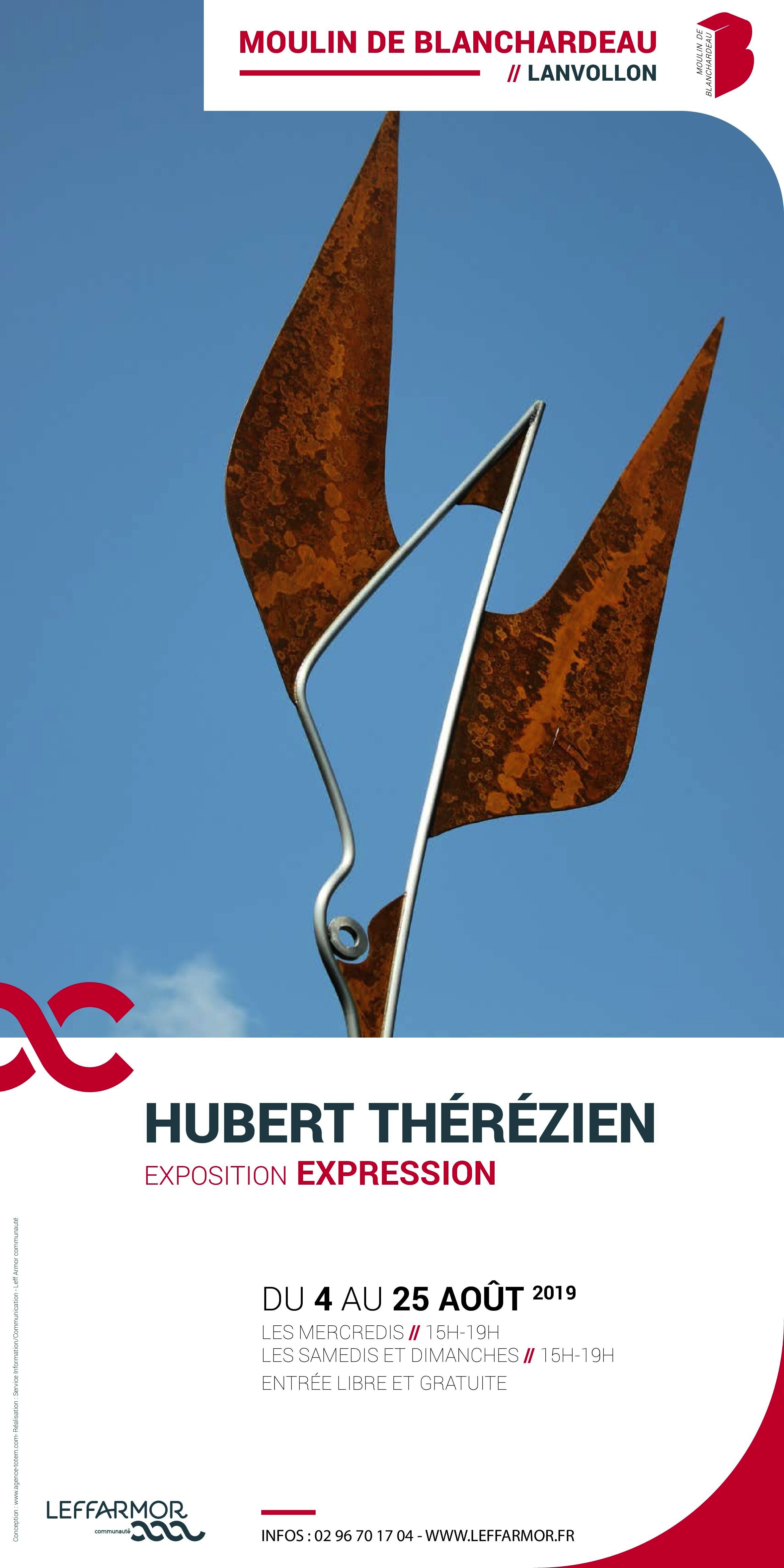 Affiche expo Hubert Thérézien v1